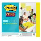 Blocco di fogli Super Sticky Big Notes - 279 x 279mm - giallo neon - 30 fogli - Post It