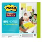 Blocco di fogli Super Sticky Big Notes - 558 x 558mm - verde neon - 30 fogli - Post It