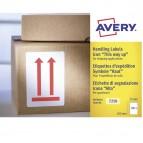Etichette con simbolo frecce (ALTO) - 74x100 mm - permanente - rosso - Avery - rotolo da 200 etichette