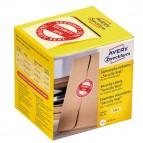 Etichette per spedizioni - icona SECURITY SEAL - ø 38 mm - permanente - rosso - Avery - rotolo da 125 etichette