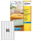 Etichetta adesiva J8651 - adatta a stampanti inkjet - 38,1x21,2 mm - permanente - bianco - Avery - 65 etichette per foglio