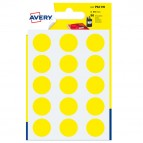 Etichetta adesiva tonda PSA - permanente - ø 19 mm - giallo - Avery - blister 90 etichette
