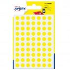 Etichetta adesiva tonda PSA - permanente - ø 8 mm - giallo - Avery - blister 420 etichette