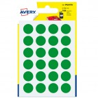 Etichetta adesiva tonda PSA - permanente - ø 15 mm - verde - Avery - blister 168 etichette