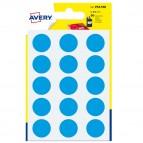 Etichetta adesiva tonda PSA - permanente - ø 19 mm - blu - Avery - blister 90 etichette