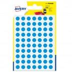 Etichetta adesiva tonda PSA - permanente - ø 8 mm - blu - Avery - blister 420 etichette