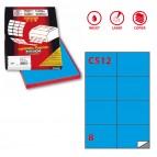 Etichetta adesiva C512 - permanente - 105x74 mm - 8 etichette per foglio - blu - Markin - scatola 100 fogli A4