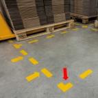 Adesivi da terra - forma a L - 10x10 cm - Durable - conf. 10 pezzi
