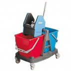 Carrello pulizia 2 secchi Duo Bravo Rubbermaid - 45x60x60cm - 36 l - F- R015111