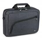 Cartella porta notebook City Time - 2 scomparti - tessuto - grigio scuro - Niji Italiana