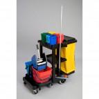 Carrello di pulizia Janitor Cart Rubbermaid - 117x55x98 cm - 75 l - 1805985
