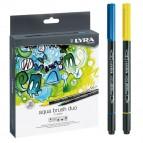 Pennarelli Aqua Brush Duo - punte 2/4 mm - colori assortiti - astuccio 36 pezzi