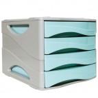 Cassettiera keep Clour Pastel - 25x32 cm - cassetti 5 cm - grigio/azzurro - Arda