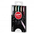 Astuccio penna sfera gel gel UNI-BALL SIGNO - punta 0,8mm - astuccio 5 colori metal - Uni Mitsubishi