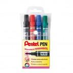 Astuccio marcatore N50 Pentel - punta conica 4,30mm - blu -  Pentel