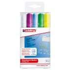 Astuccio marcatore per vetro E90 - punta tonda da 2,00-3,00mm - astuccio 5 colori - Edding