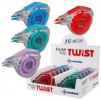 Correttore a nastro Bianco Tape Twist - 5mmx10 mt - Osama