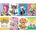 Maxiquaderno A4 20fg+1 - 80g - 1 rigo con margine - serie Kid Girl 2019 - Blasetti