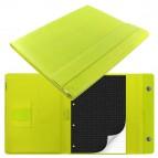 Portablocco Saffiano - similpelle - 32,1x25,5x3cm - chiusura magnetica - Verde acido - Filofax