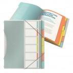 Classificatore colour'lce - 6 divisori - dorso 2 cm - 26,6x32 cm - multicolore - Esselte