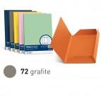 25 cartelline Luce lembi - 200 gr - 24,5x34,5cm - grafite - Favini - conf. 25 pezzi