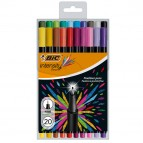Astuccio fineliner Intensity - punta 0,8mm - colori assortiti - Bic - conf.  20 pezzi