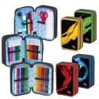 Astuccio 3 zip Colorosa - 20x13x6,5cm - colore assortiti - Ri.Plast