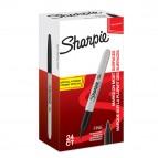 Permanente fine RT con cappuccio - punta conica 1,0mm - nero - Sharpie - conf. 20 + 4 pezzi