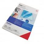 Copertine ColorClear™ per rilegatura - A4 - 180 micron - PVC - rosso - GBC - conf. 100 pezzi