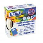Nastro adesivo telato TPA 200 - 19 mm x 2,7 mt - rosso - Eurocel