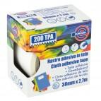 Nastro adesivo telato TPA 200 - 38 mm x 2,7 mt - bianco - Eurocel