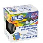 Nastro adesivo telato TPA 200 - 38 mm x 2,7 mt - nero - Eurocel