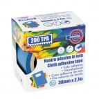 Nastro adesivo telato TPA 200 - 38 mm x 2,7 mt - blu - Eurocel