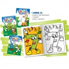 Album da colorare 24 facciate tema Dinosauri e numeri Blasetti