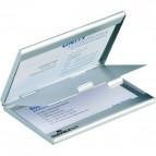 Portabiglietti da visita tascabile Duo Durable - alluminio - 9x5,5 cm - 2433-23