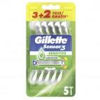 Gillette Sensor 3 Sensitive - confezione usagetta 3+2 pz