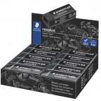 Gomma Rasoplast - 63x13x23 mm - nero per matita - Staedtler - box 20 pezzi