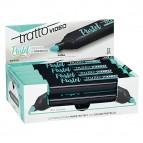 Evidenziatore Tratto Video pastel  - punta a scalpello - tratto da 1,0mm-5,0mm - verde menta - Tratto