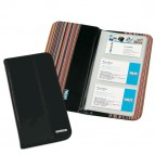 Portabiglietti da visita Professional - similpelle - nero - 12,5x23,5 cm - Niji