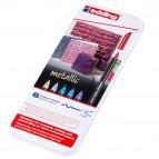 Pennarelli 1200 metallic - tratto 1mm - colori assortiti - Edding - scatola 6 pezzi