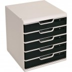 Cassettiera MODULO A4 Exacompta - grigio/nero - 5 cassetti - 301014D