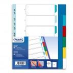 Divisori Neutri a 6 tacche - PP - A4 maxi - colori assortiti - Favorit