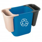 Vaschetta rifiuti x cestino da 27-39 litri Rubbermaid - 26,5x12x29,5cm - 4,5l - grigio - 2950- FG295073GRAY