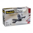 Dispenser Clip & Twist per nastro adesivo - grigio - 4 rotoli inclusi da 19 mm x 33 mt - Scotch® Magic™