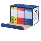 Registratori Oxford G85 - dorso - 8 cm - protocollo 23x33 cm - colori assortiti - Esselte - conf. 6 pezzi