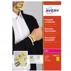 Braccialetti identificativi stampabili - giallo - 5 fogli - A4 - Avery