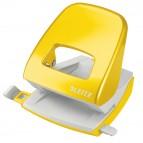 Perforatore 5008 New NeXXt WOW - passo 8 cm - massimo 30 fogli - 2 fori - giallo - Leitz