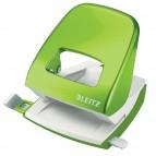Perforatore 5008 New NeXXt WOW - passo 8 cm - massimo 30 fogli - 2 fori - verde lime - Leitz