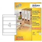 Etichette per raccoglitori in carta riciclata - 38x192mm - bianca - laser - Avery