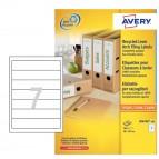 Etichette per raccoglitori carta riciclata - 61x192mm - bianca - laser - Avery